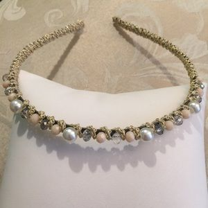 Beaded Pearl Wrapped Dressy Headband